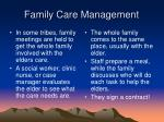family care management