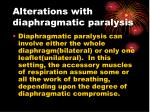 alterations with diaphragmatic paralysis
