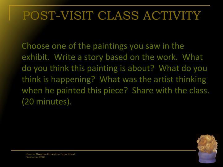 POST-VISIT CLASS ACTIVITY