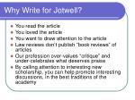 why write for jotwell
