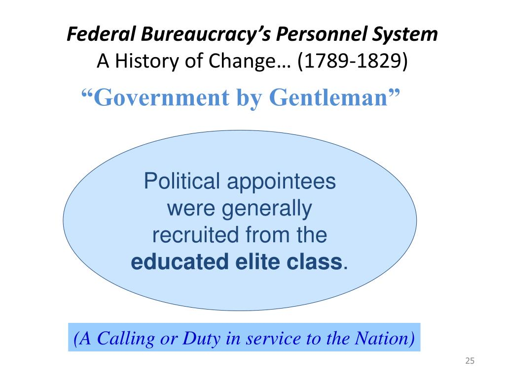 Federal Bureaucracy's Personnel System