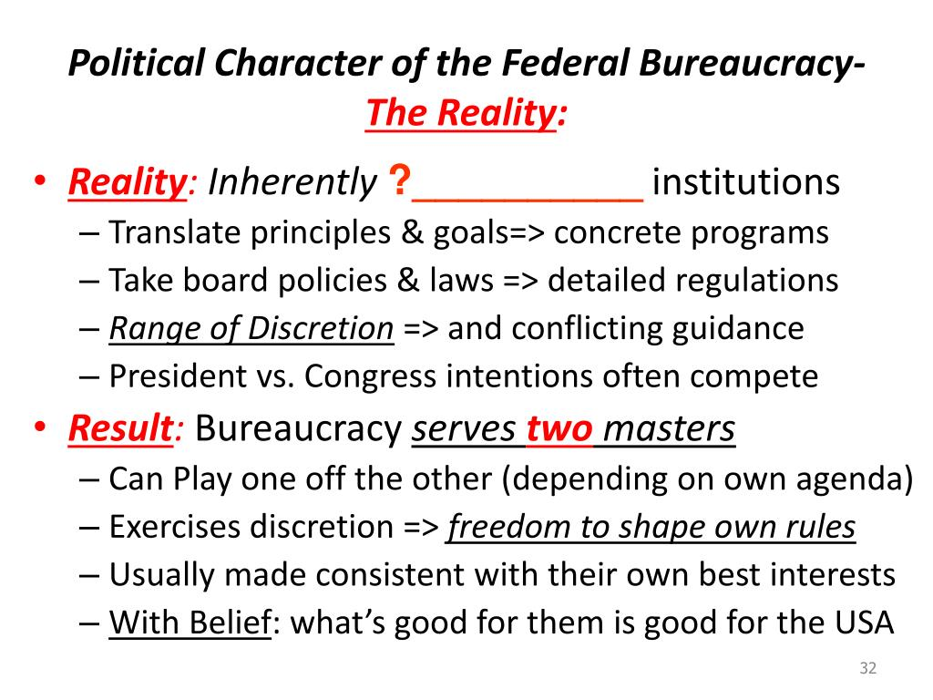 Political Character of the Federal Bureaucracy-