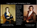 fabre and david similarities in style
