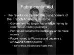 fabre continued