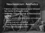 neoclassicism aesthetics