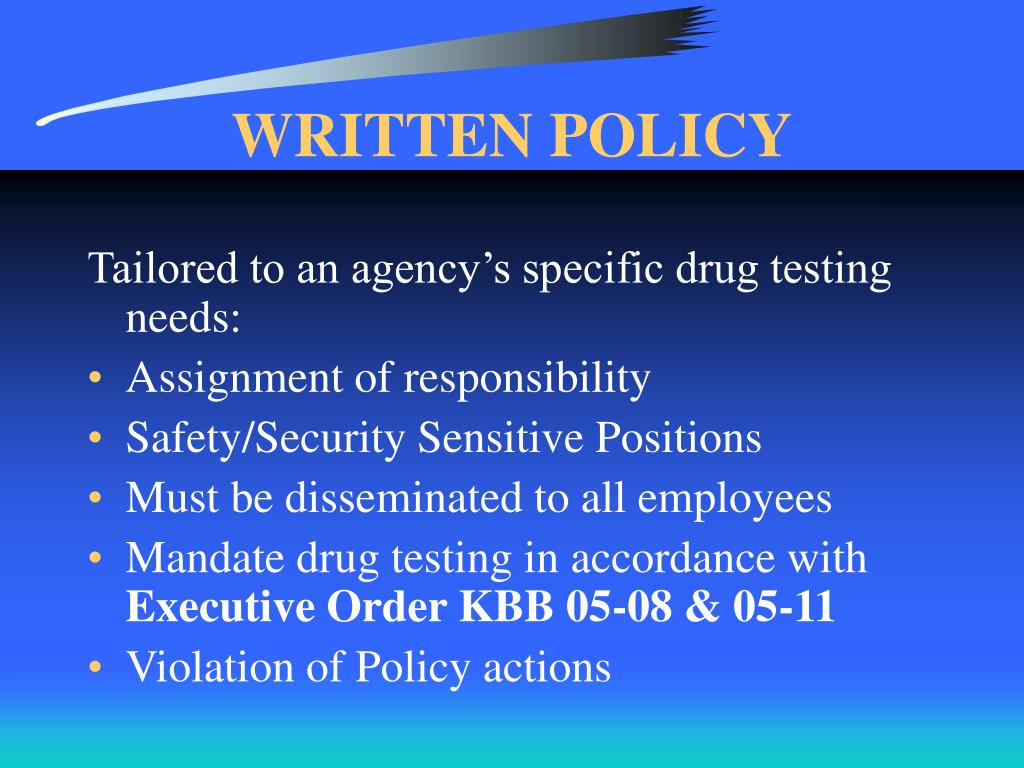 WRITTEN POLICY