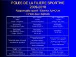 poles de la filiere sportive 2009 2010 responsable sportif etienne junqua 3 p les bien distincts