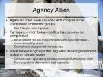 agency allies
