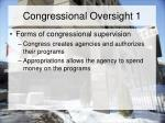 congressional oversight 1