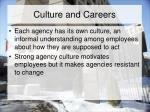 culture and careers
