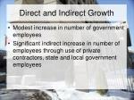 direct and indirect growth