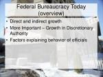 federal bureaucracy today overview