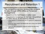 recruitment and retention 1