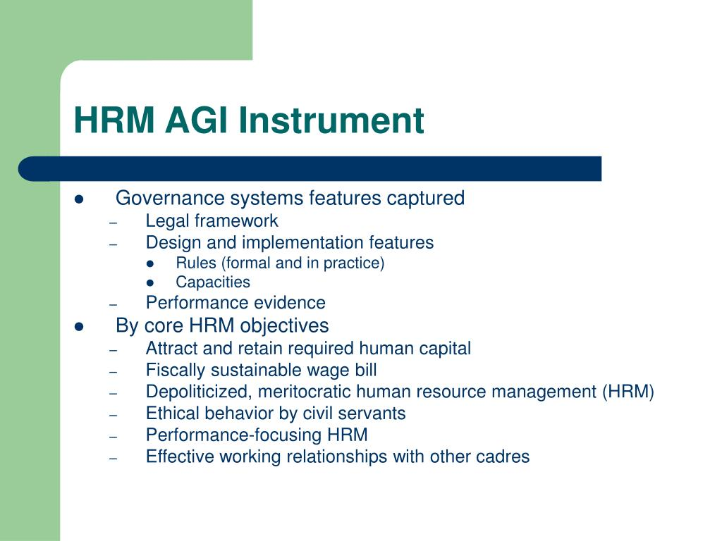 HRM AGI Instrument