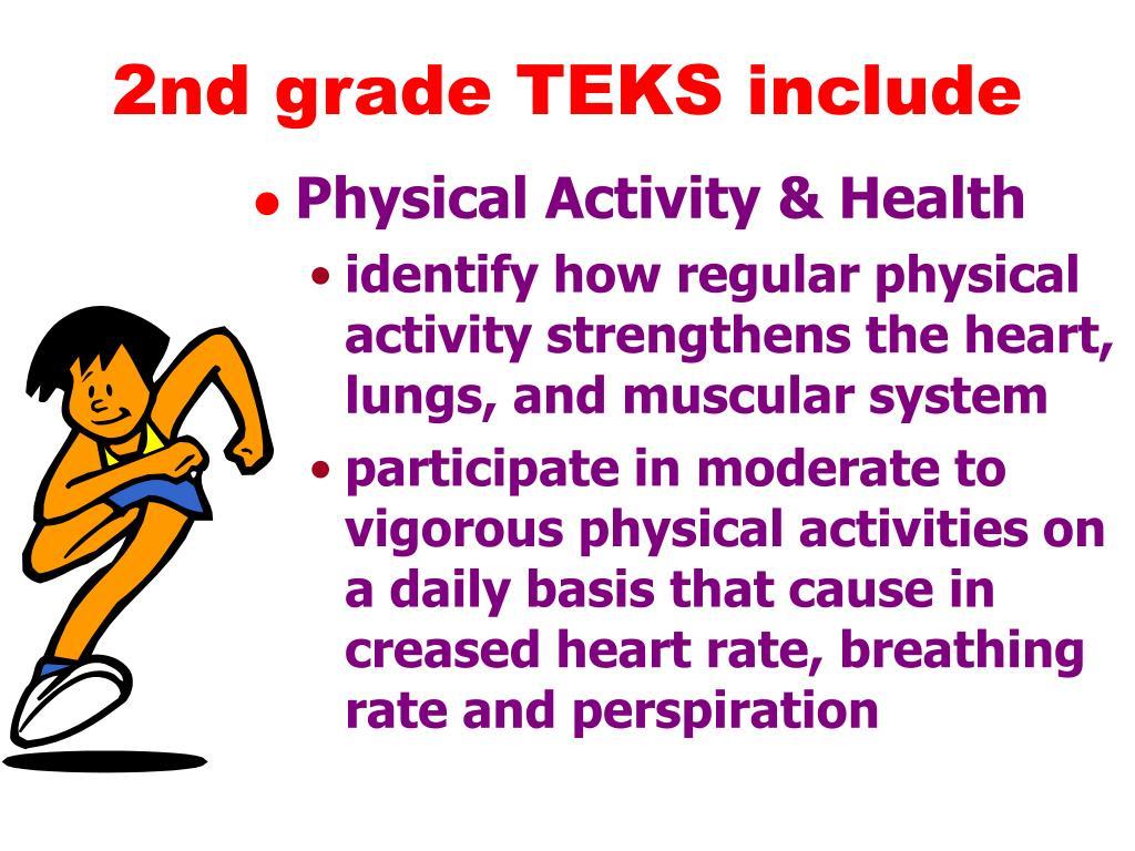 2nd grade TEKS include