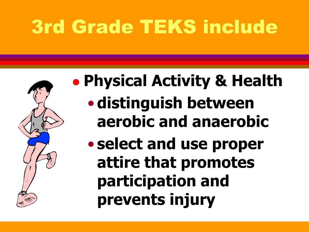 3rd Grade TEKS include