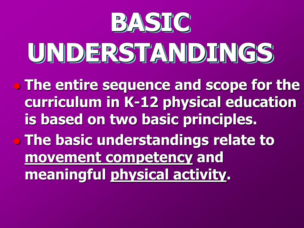 BASIC UNDERSTANDINGS