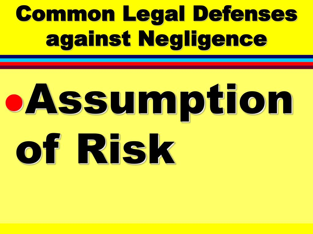 Common Legal Defenses