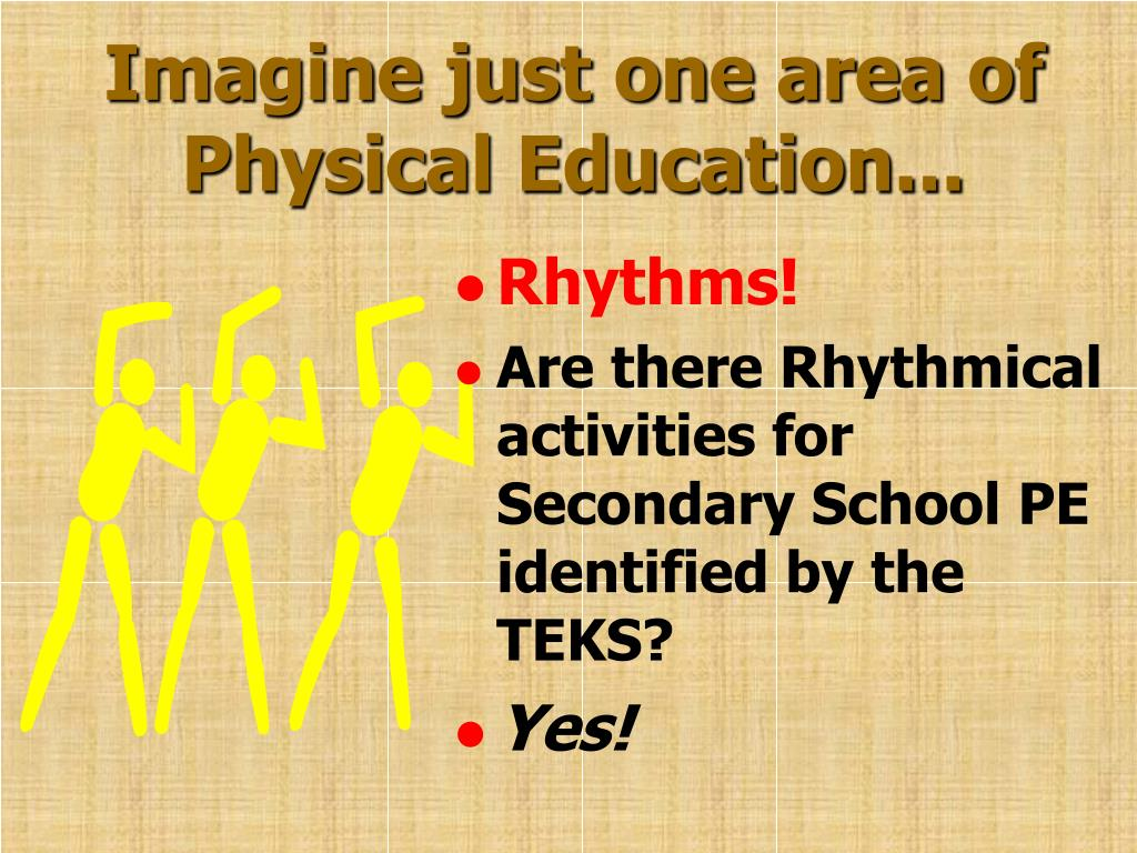 Imagine just one area of Physical Education...