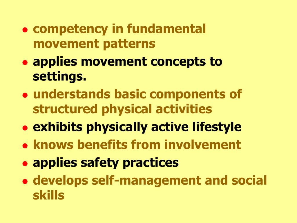 competency in fundamental movement patterns