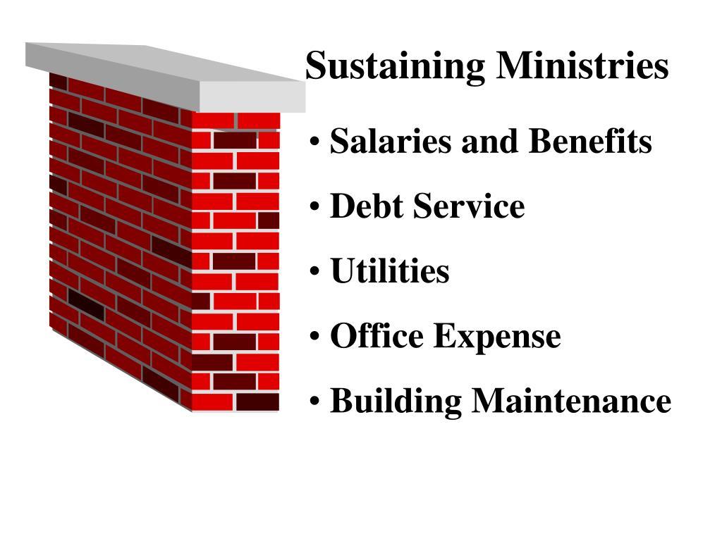 Sustaining Ministries
