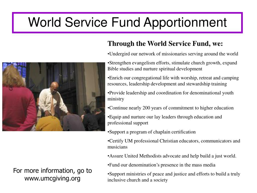 World Service Fund Apportionment