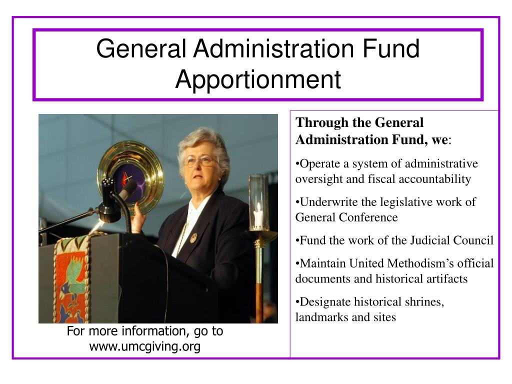 General Administration Fund Apportionment