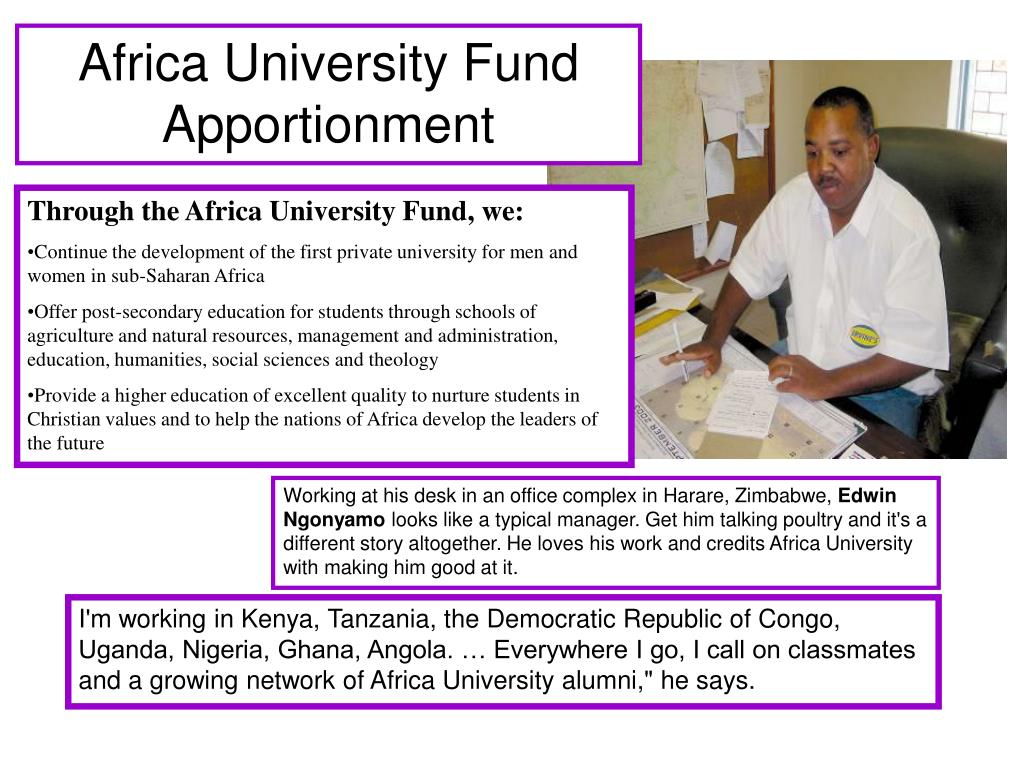 Africa University Fund Apportionment