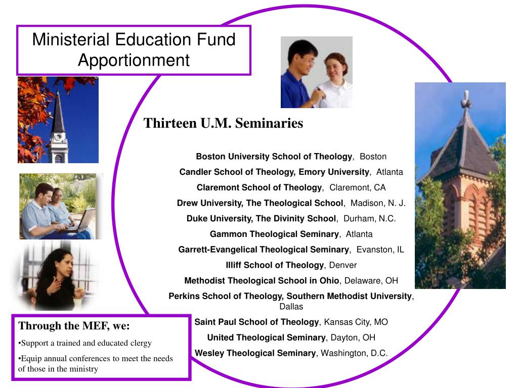 Ministerial Education Fund Apportionment