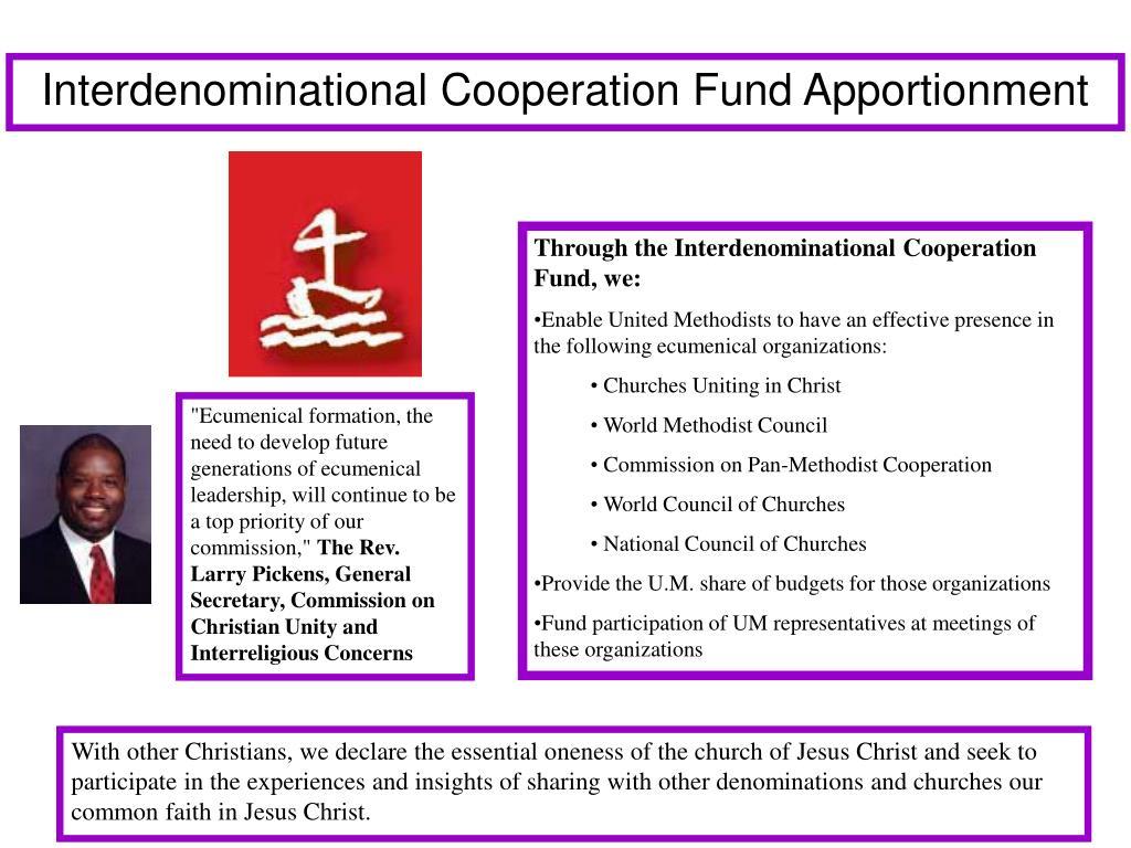 Interdenominational Cooperation Fund Apportionment