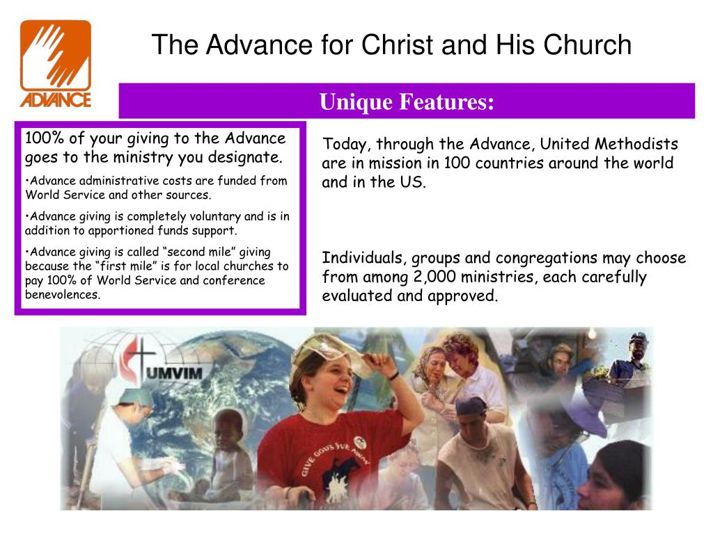The Advance for Christ and His Church