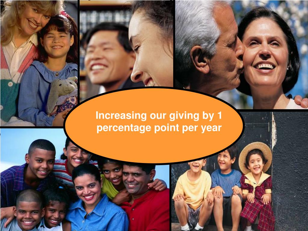 Increasing our giving by 1 percentage point per year
