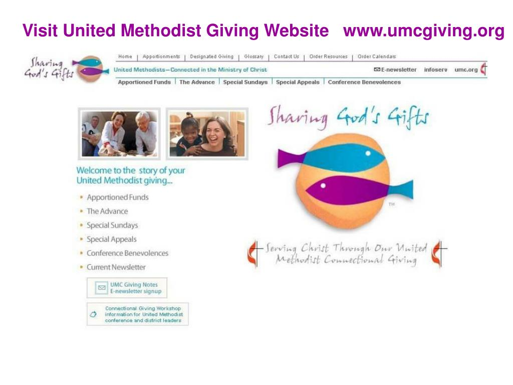 Visit United Methodist Giving Website   www.umcgiving.org