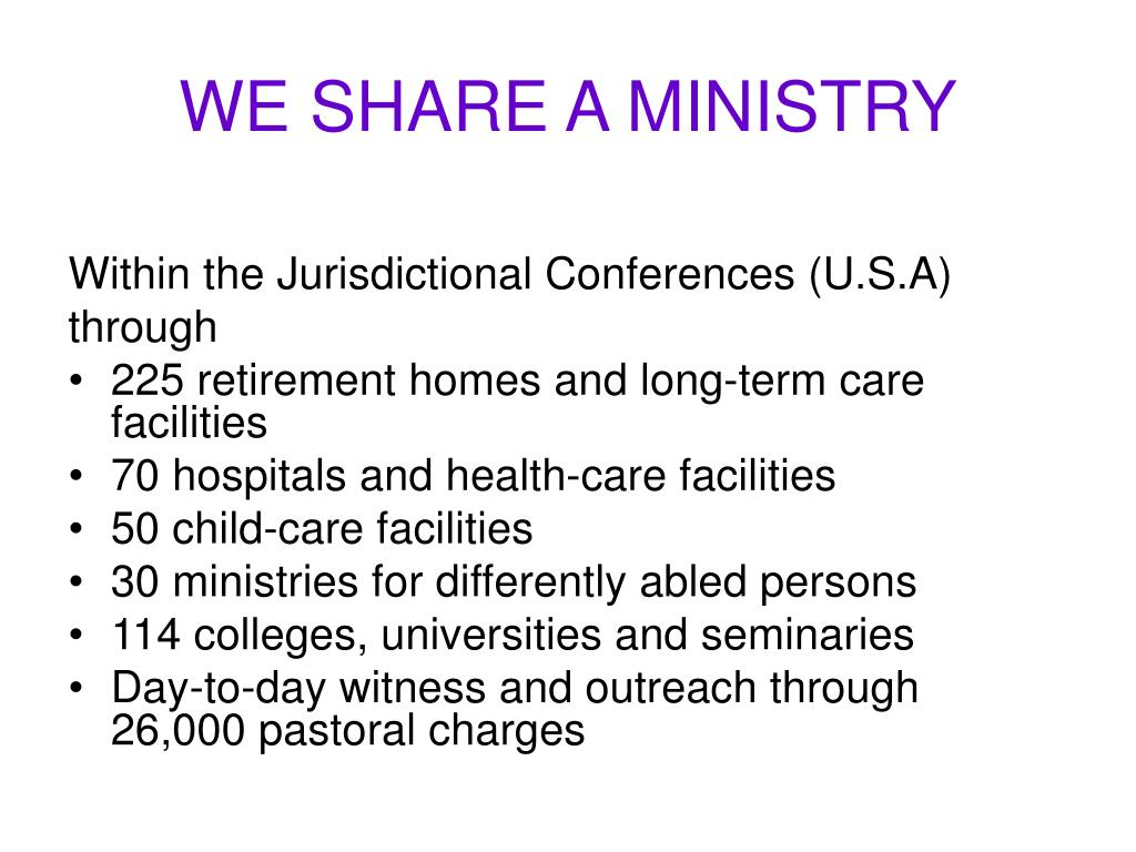 WE SHARE A MINISTRY