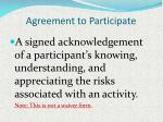 agreement to participate