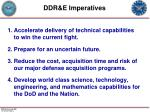 ddr e imperatives