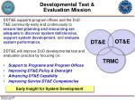 developmental test evaluation mission