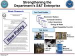 strengthening the department s s t enterprise