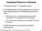 combined returns in general