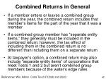 combined returns in general42