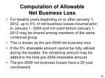 computation of allowable net business loss95