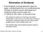 elimination of dividends
