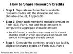 how to share research credits107