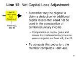 line 12 net capital loss adjustment