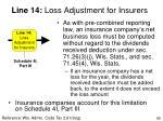line 14 loss adjustment for insurers
