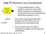 line 17 business loss carryforward