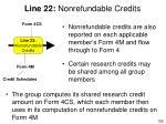 line 22 nonrefundable credits