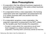 more presumptions
