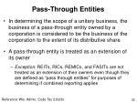 pass through entities