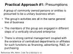 practical approach 1 presumptions